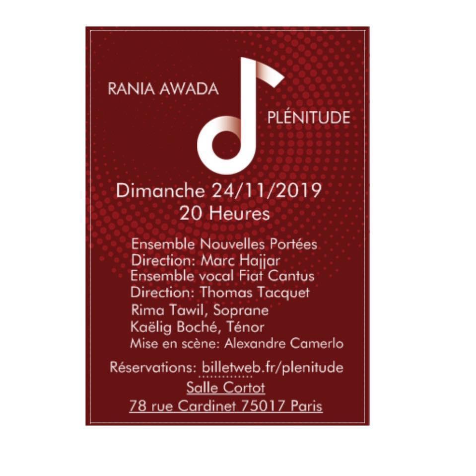 visuel concert Rania Awada